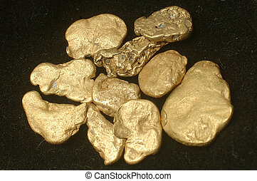 gold, klumpen