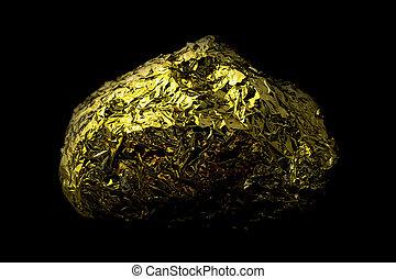 gold, klumpen, töne