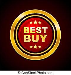 Gold Label Best Buy Vector