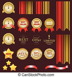 Gold label for present best of product
