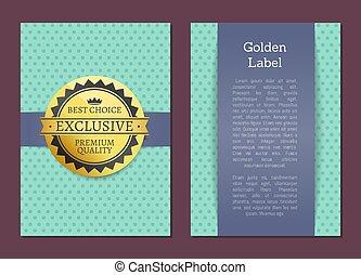 Gold Label Reward Guarantee Cover Design Exclusive
