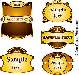 Gold labels set