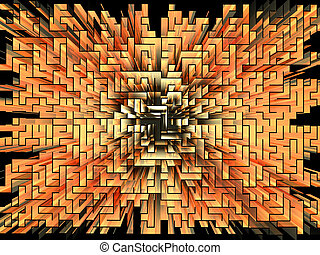 Gold labyrinth