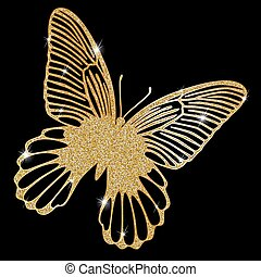 Gold Lace butterfly