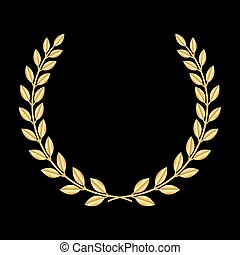 Gold laurel wreath 3