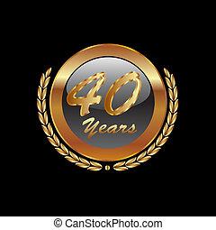 Gold laurel wreath 40th anniversary