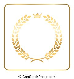 Gold laurel wreath crown