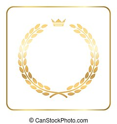 Gold laurel wreath crown golden