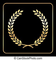 Gold laurel wreath design
