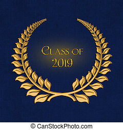 gold laurel wreath for 2019 graduation - ornate gold laurel ...