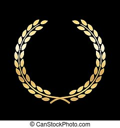 Gold laurel wreath symbol