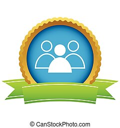 Gold leader logo on a white background. Vector illustration
