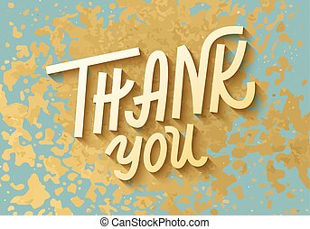 Gold leaf boho chic style thank you greeting card with shiny glitter splash and custom golden lettering