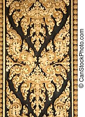 door pattern - gold leaf door pattern in cambodia