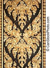 door pattern - gold leaf door pattern in cambodia