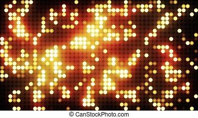 Gold led animated VJ background