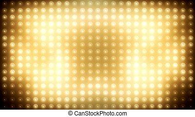 Gold led loop animated VJ background