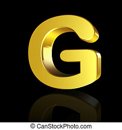 Gold letter G in 3D