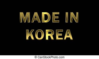 Gold letters collecting from particles - Made in Korea -...
