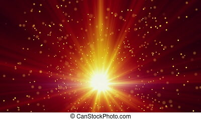 gold light and particles loop background