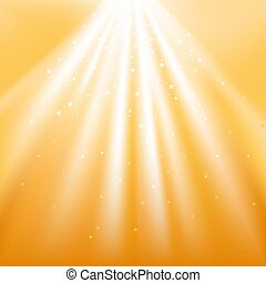 Gold Light with Stars - abstract background illustration