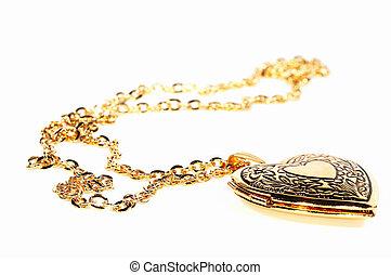 Gold Locket - Photo of a Gold Heart Locket