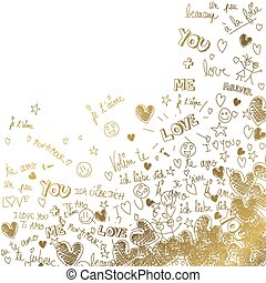Gold love background