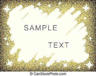 Gold luxury background with space for text hatching. Glamorous vector illustration.