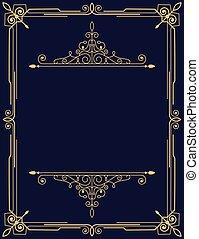 Gold luxury decorative card design