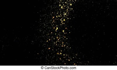 Gold luxury sparkling glitter star dust trail particles .