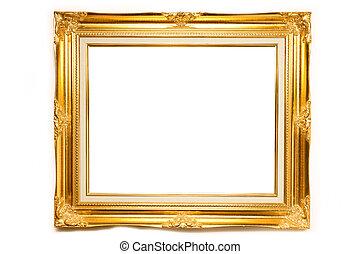 gold, luxus, fotorahmen