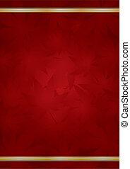 gold, &, luxus, hintergrund, rotes