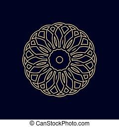 Gold mandala or geometrical figure