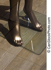 manikin feet - gold manikin feet in ladies fashion shop ...