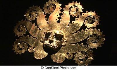 Gold Mask Of Incas