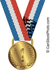 Gold Medal Isolated on White Background Vector