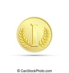 Gold medal. Stock illustration.