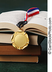 gold medal - Gold medal on the book