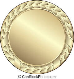 gold medal - This image is a vector illustration and can be...