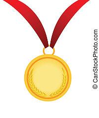 gold medal vector illustration