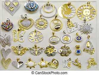 Big collections of gold and platinum medallions