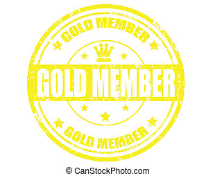 Gold member-stamp