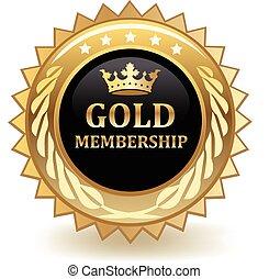 Gold Membership - Gold membership badge.