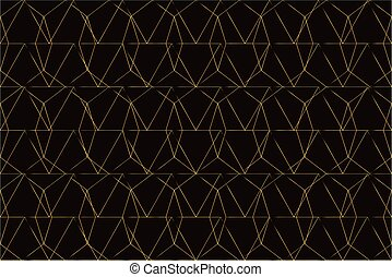 Gold mesh on black background seamless pattern