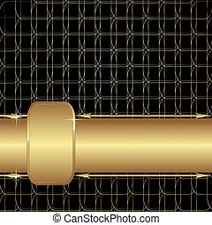 Gold mesh - Ornate gold with a black background. Vector...