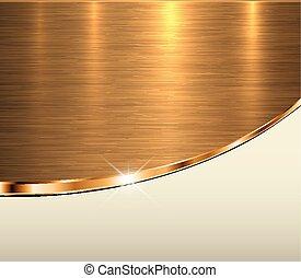 Gold metal background, elegant golden vector metallic...