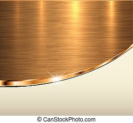 Gold metal background, elegant golden vector metallic...