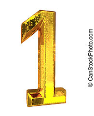 Gold metal number