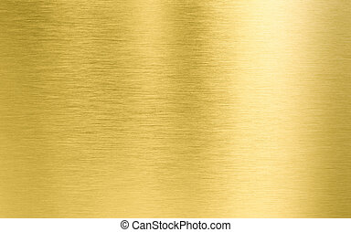 Golden brushed metal texture or background