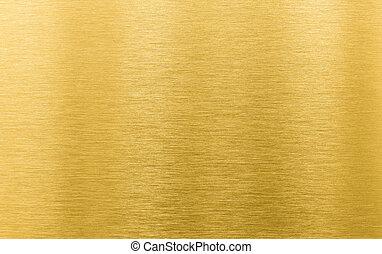 gold, metall, beschaffenheit, hintergrund, gebürstet, oder